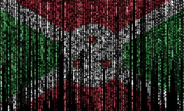 Hacked by Burundi stock photo