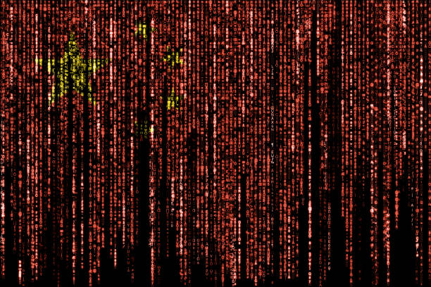 Hacked by China stock photo