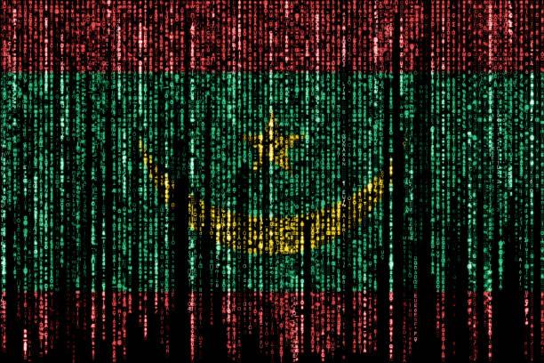 Hacked by Mauritania stock photo