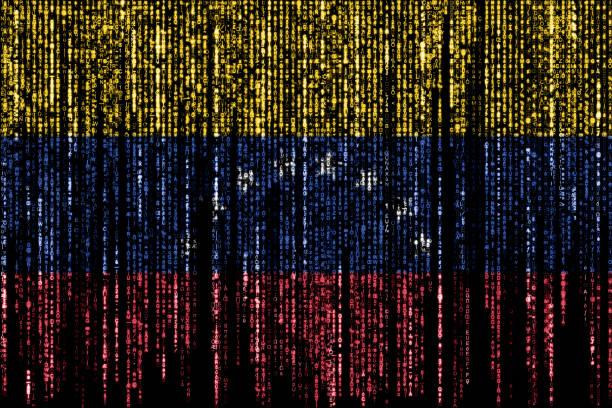 Hacked by Venezuela stock photo