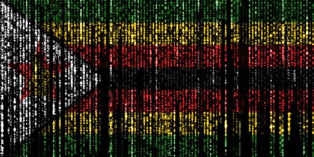 Hacked by Zimbabwe stock photo