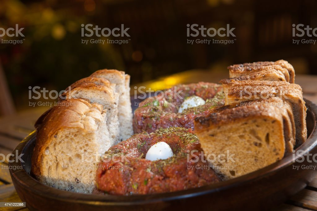 Hackepeter - German Food stock photo