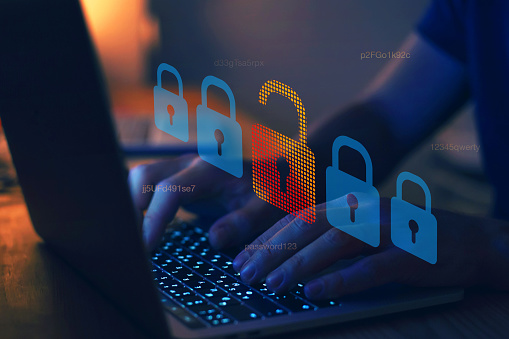 hacker attack, cyber crime concept, cybersecurity