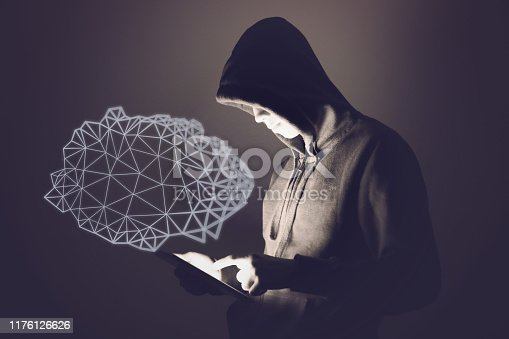 Hacker cloud computing computer crime cyber attack network security password protection internet
