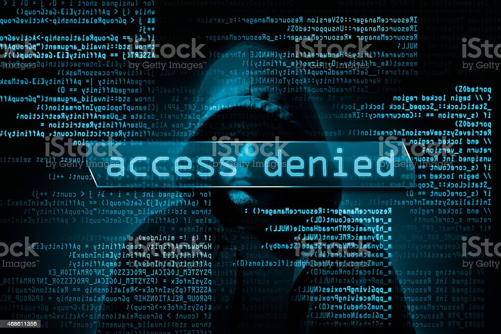 hacker in the dark stock photo