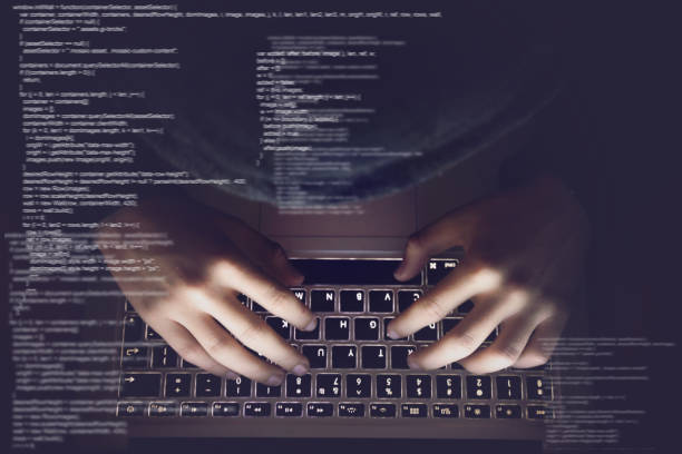 hacker internet computer crime cyber attack network security programming code password protection - algorithm stock pictures, royalty-free photos & images