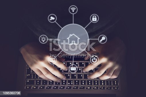 Hacker internet computer crime cyber attack smart home network security password protection