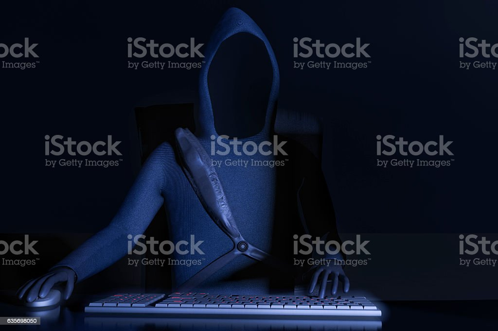 Hacker royalty-free stock photo
