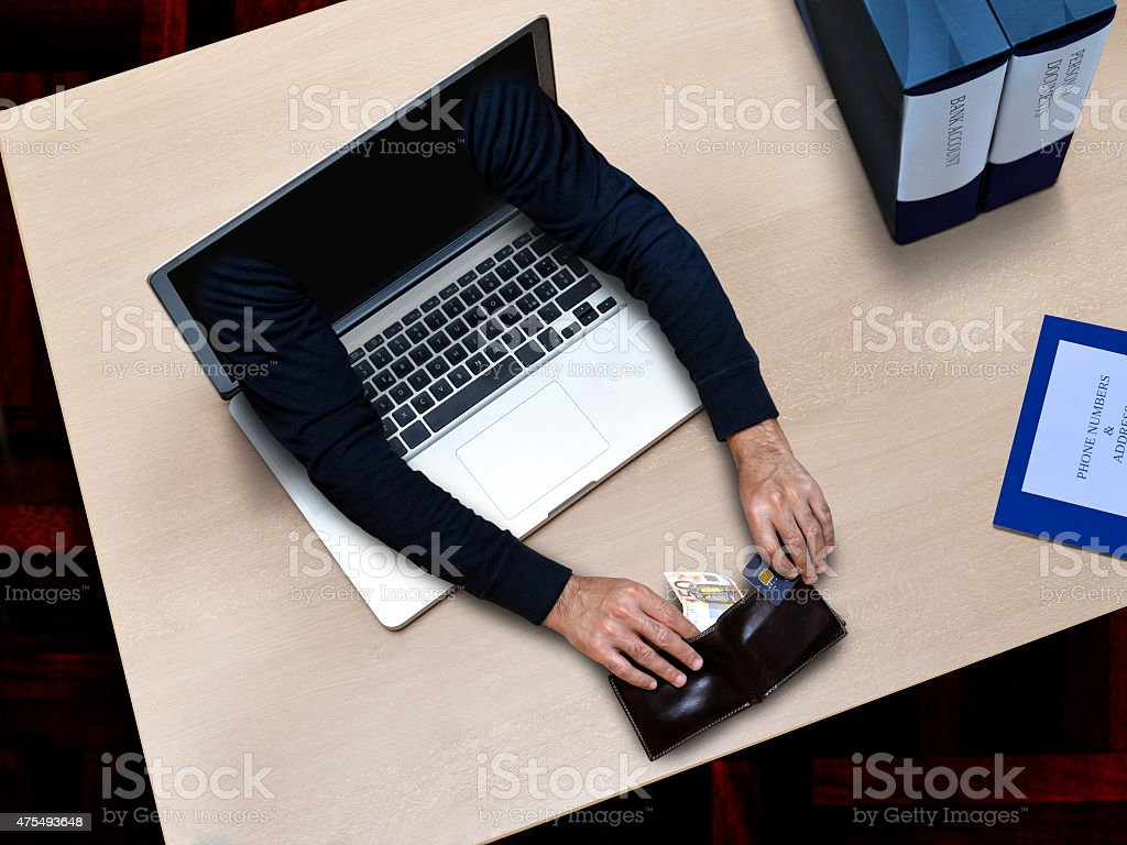 hacker security crime stock photo
