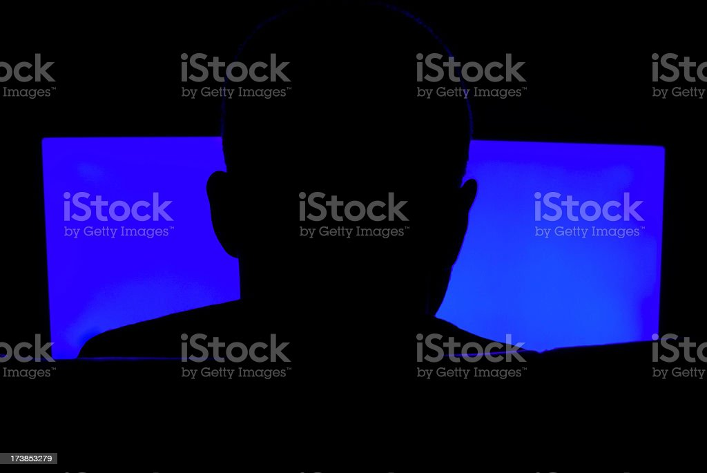 hacker silhouette royalty-free stock photo