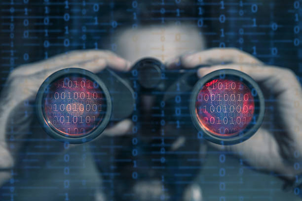 hacker spy your data file - stalking stock photos and pictures