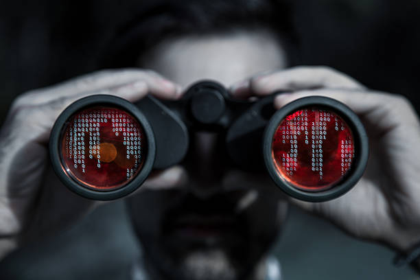 hacker spy your data file - stealing crime stock photos and pictures