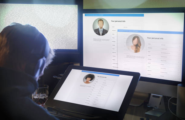 hacker stealing your identity - identity stock photos and pictures