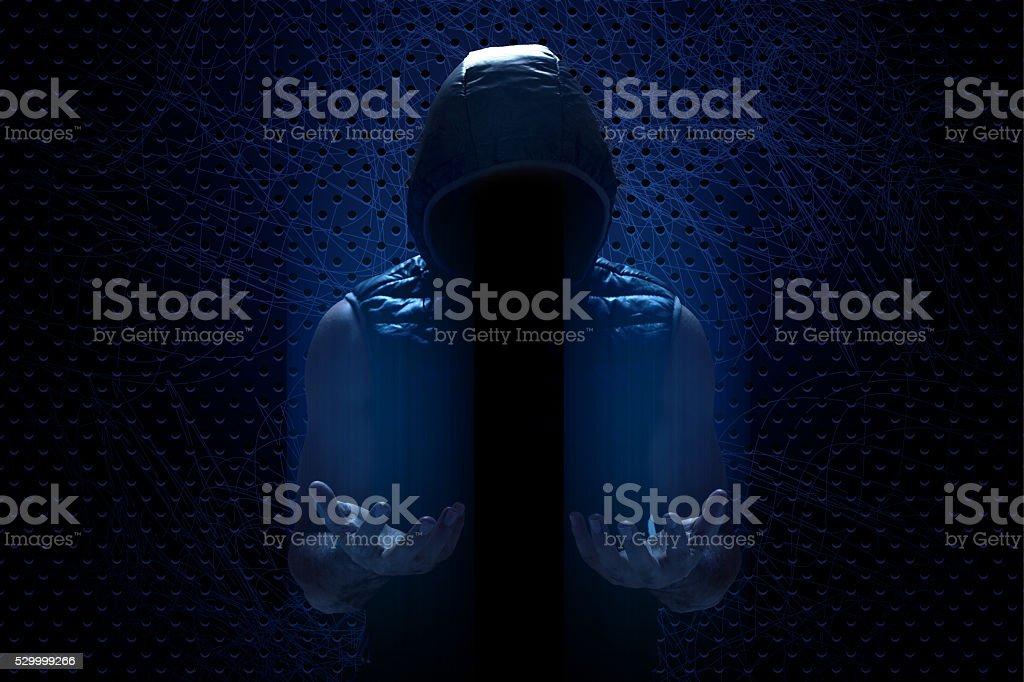 Hacker mit dunklen consepts – Foto