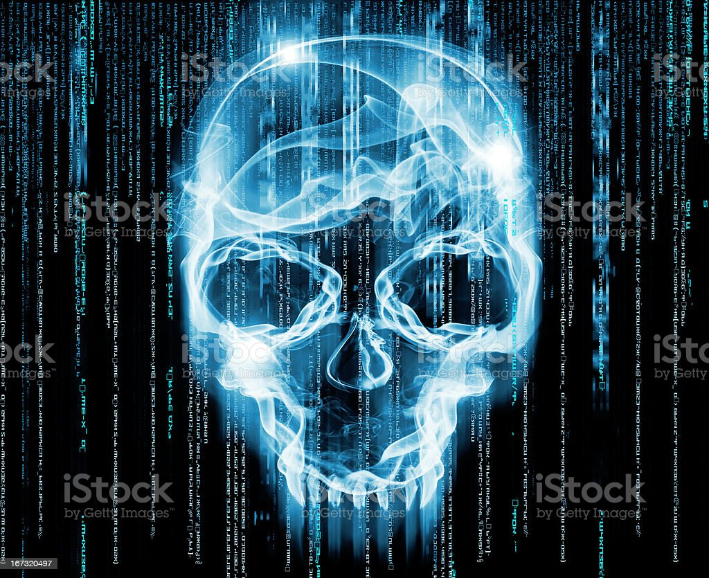 hackers concept digital illustration stock photo