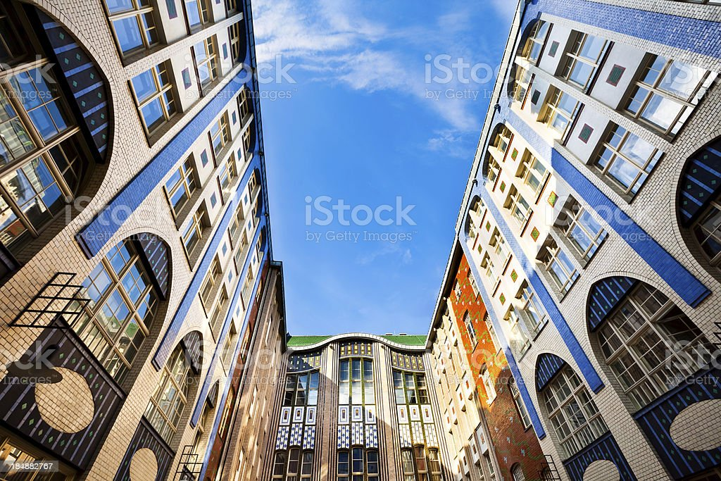 Hackesche Hoefe, Central Berlin, Germany stock photo