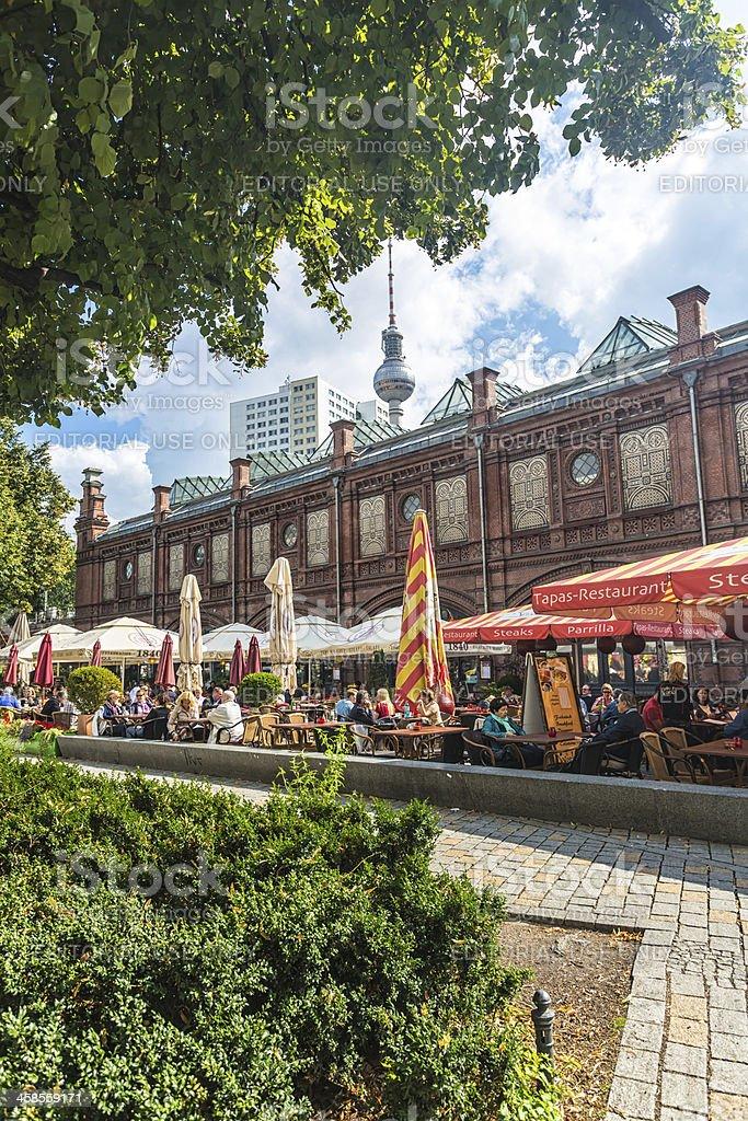 Hackescher Markt in Berlin royalty-free stock photo