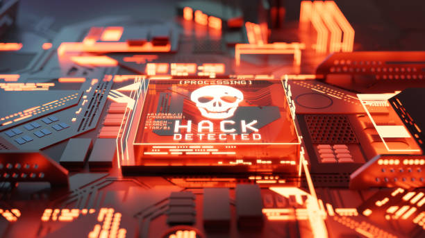 Hacking And Network Ransomware Concept stock photo