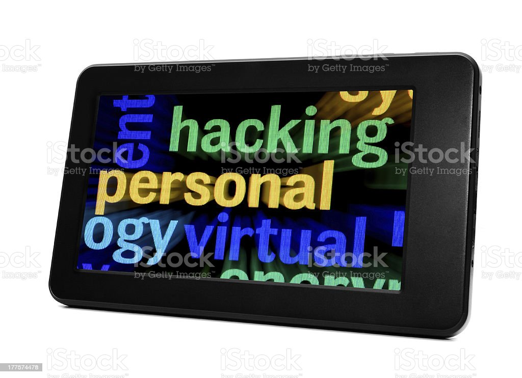 Hacking concept royalty-free stock photo