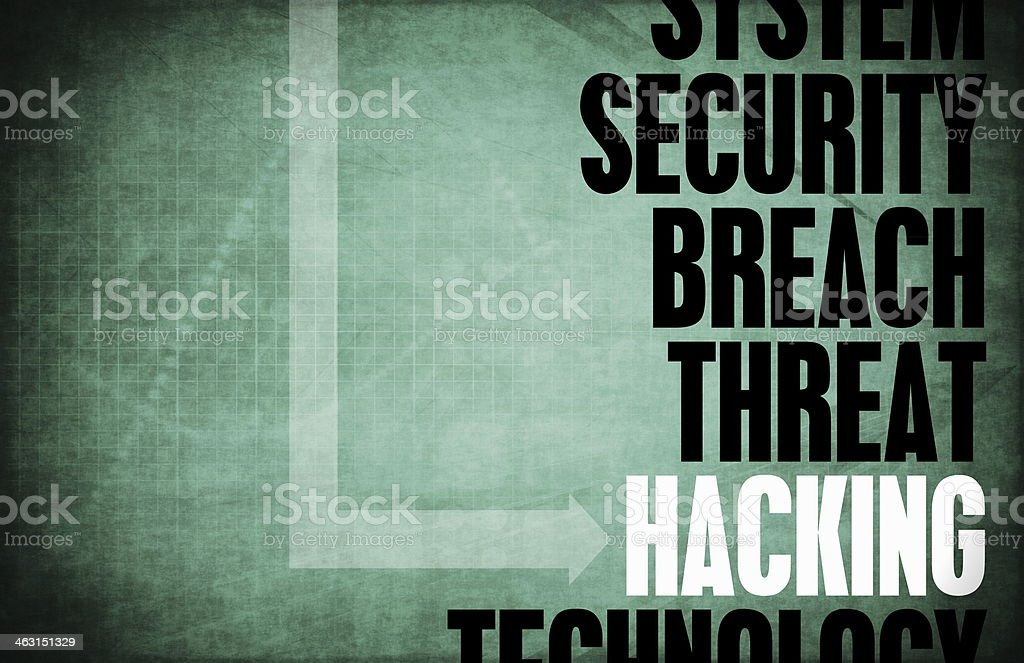 Hacking stock photo