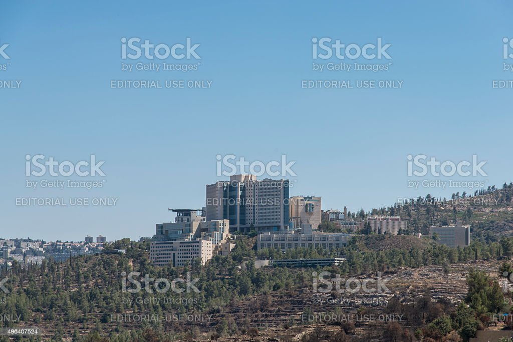 Hadassah Medical Center stock photo