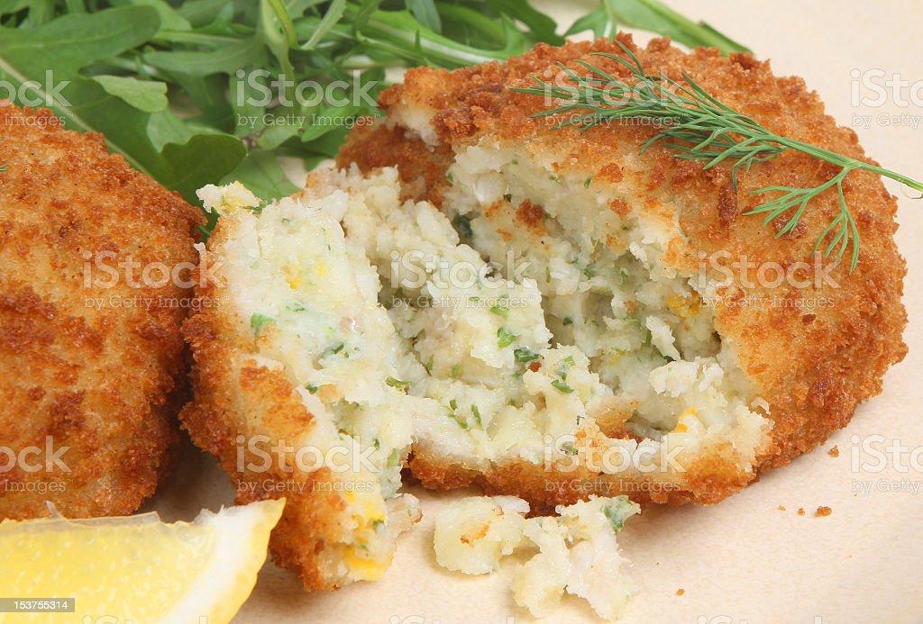 Haddock Fishcake royalty-free stock photo