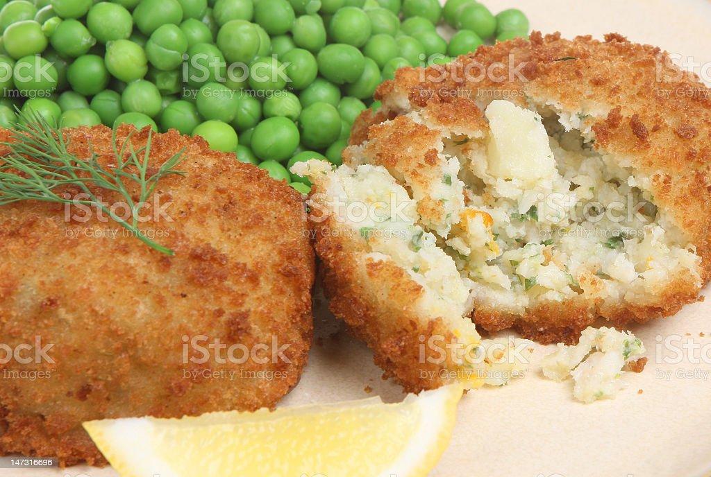Haddock Fishcakes royalty-free stock photo
