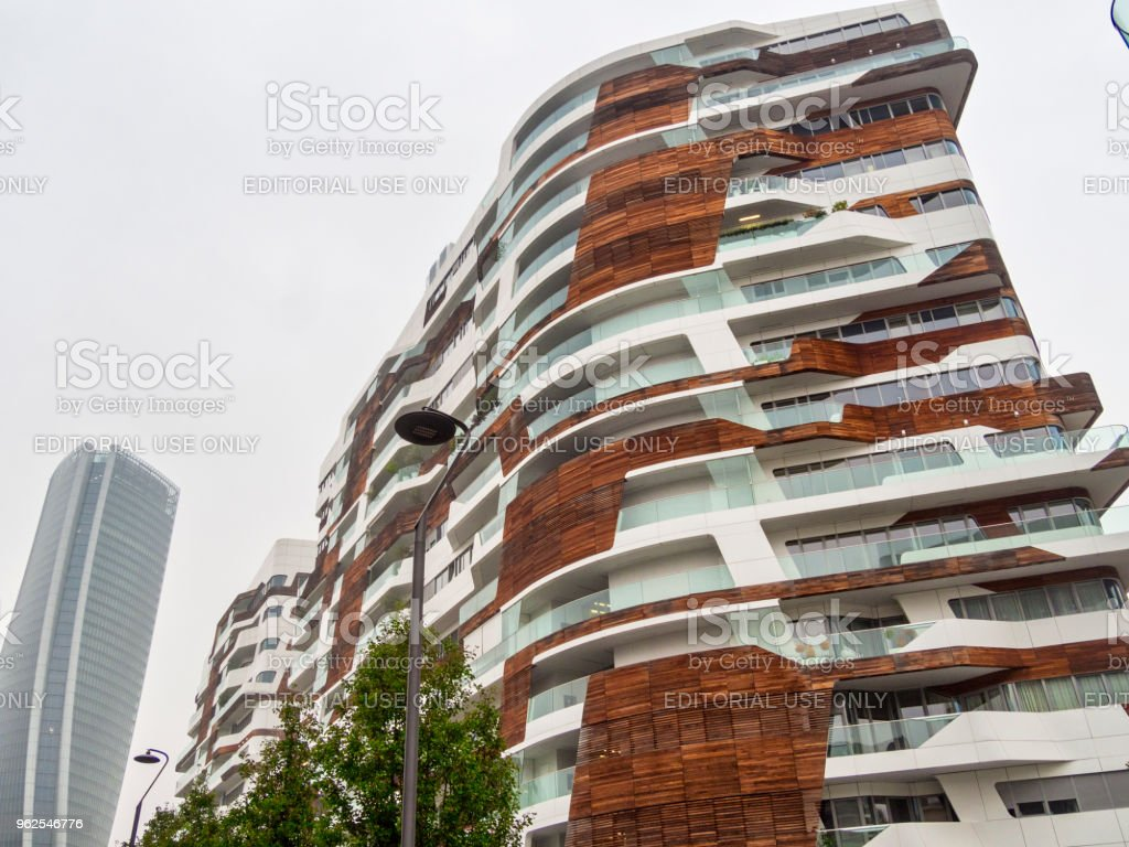 Hadid buildings at Citylife, Milan - Royalty-free Architecture Stock Photo