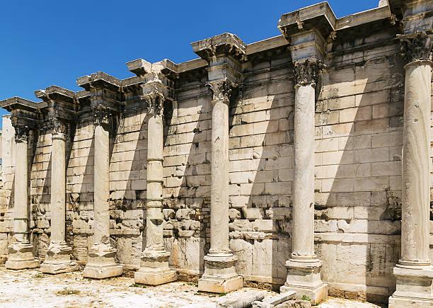 hadrian bibliothek, athen - hadrian's wall stock-fotos und bilder