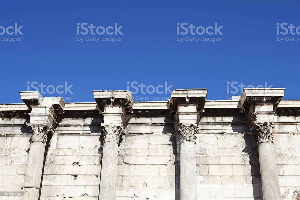 Hadrian Library stock photo