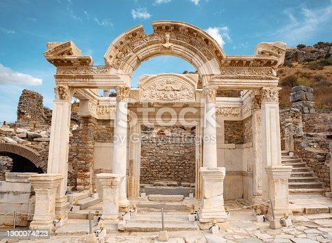 istock Hadrian Temple in the ancient city of Ephesus 1300074223