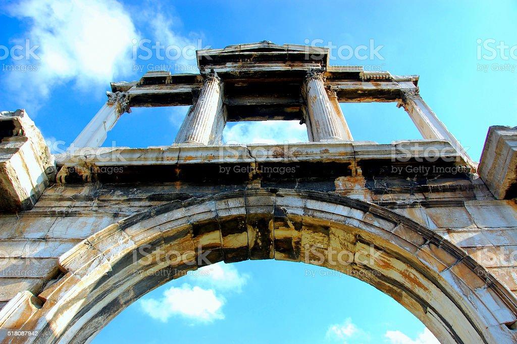 Hadrians Arch, Athens, Greece stock photo