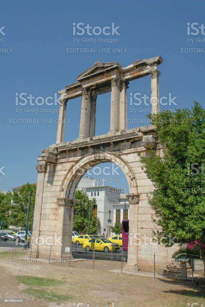 Hadrian's Arch II stock photo