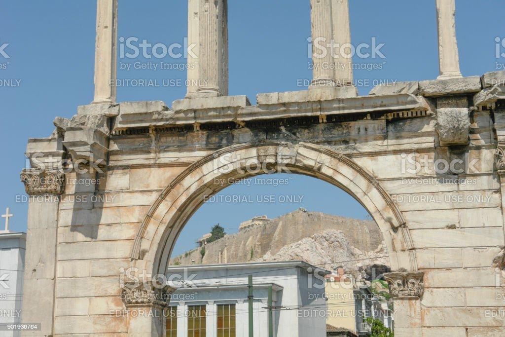 Hadrian's Arch IV stock photo