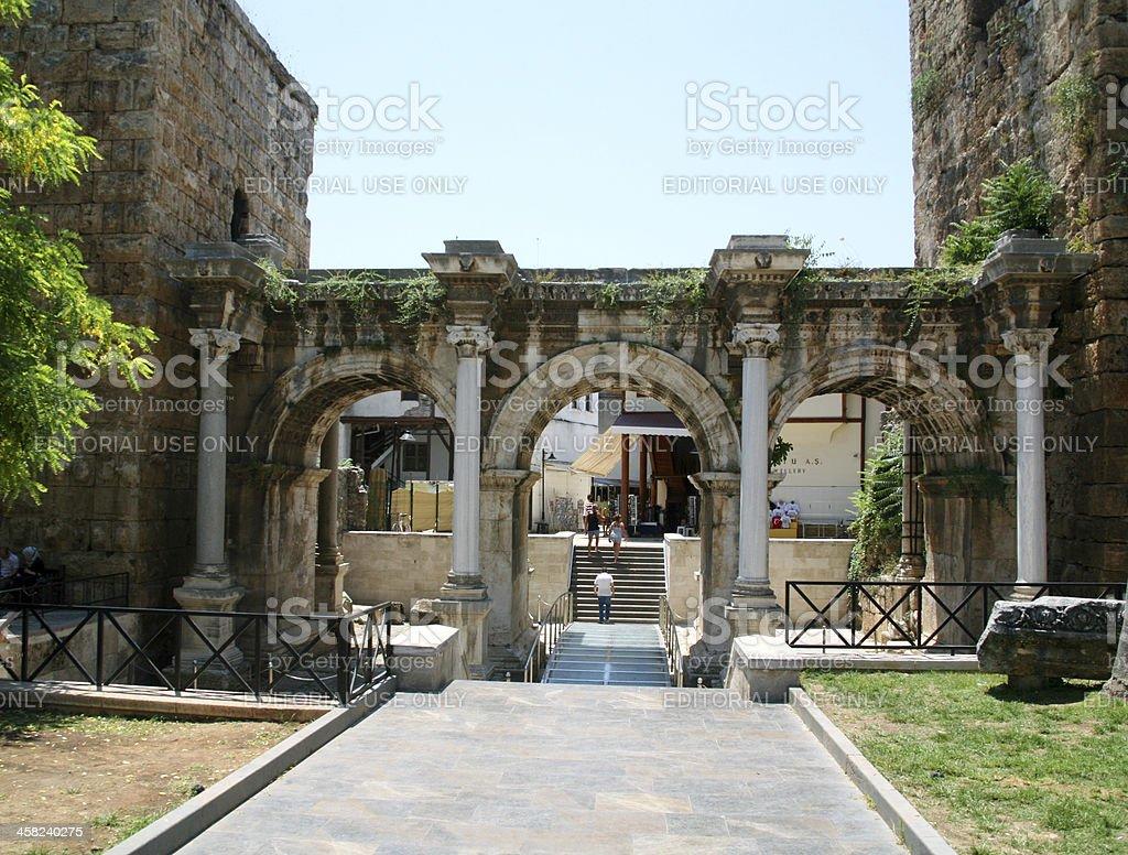 Hadrian's Gate, Antalya - Turkey royalty-free stock photo