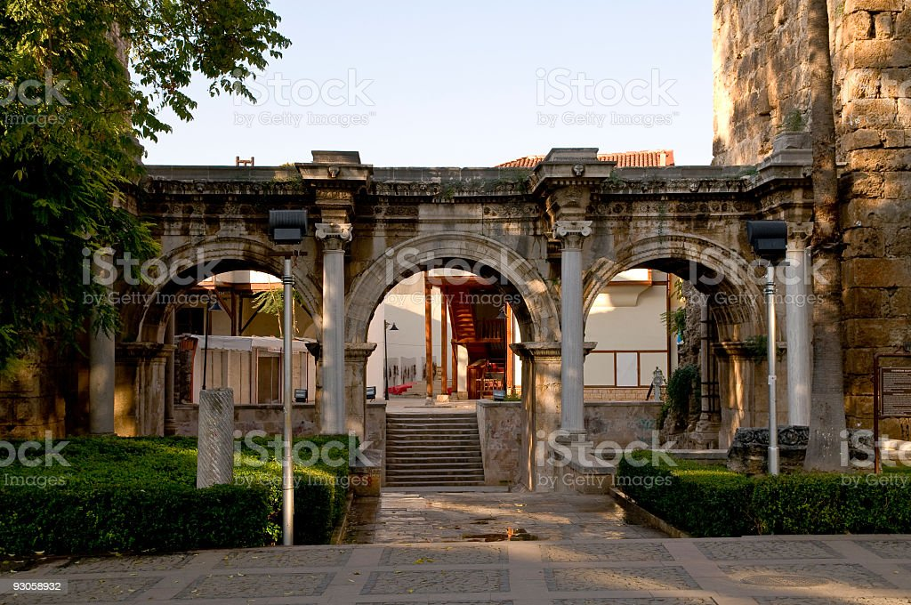 Hadrian's Gate, Antalya - Turkey stock photo