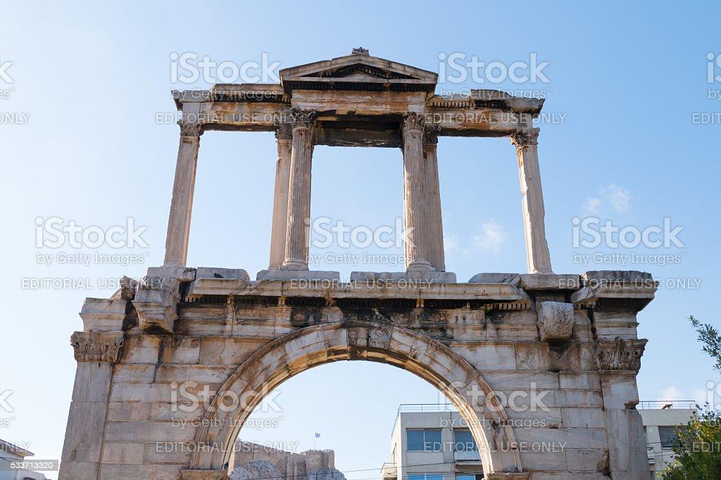 Hadrian's Gate, Athens, Greece stock photo