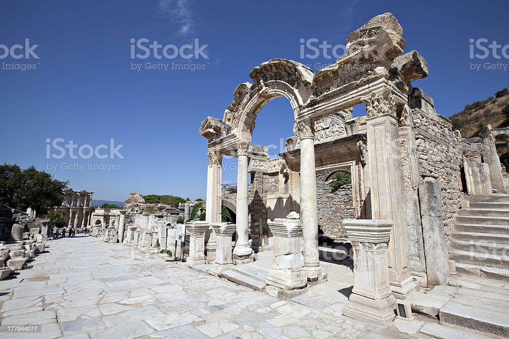 Hadrian's Temple, Ephesus stock photo