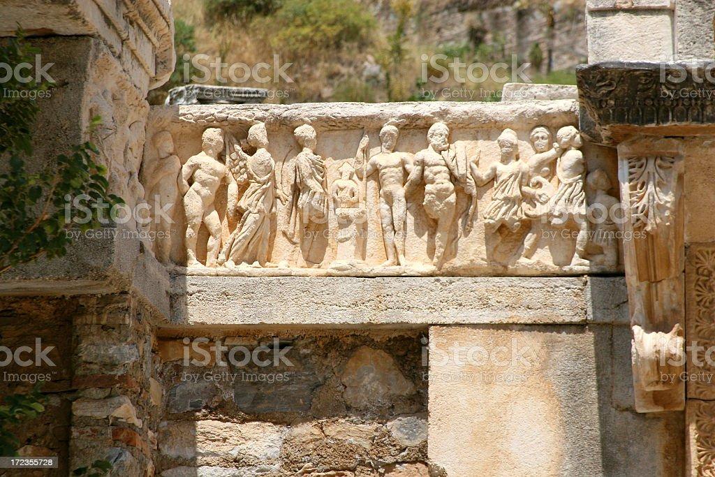 Templo de Adriano, Éfeso, Turquía foto de stock libre de derechos