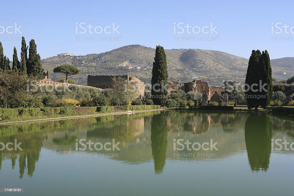 Hadrian's Villa by Tivoli, Italy royalty-free stock photo