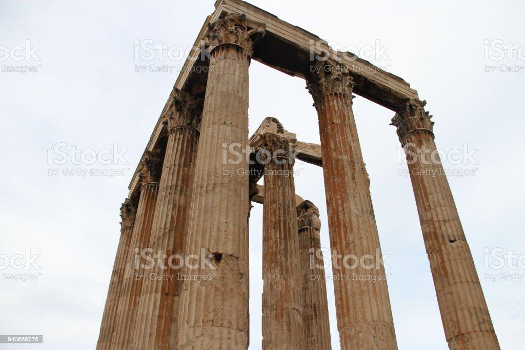 Hadrian's wall, Greece stock photo