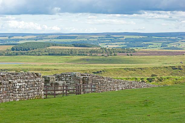 hadrian's wall, housesteads - hadrian's wall stock-fotos und bilder