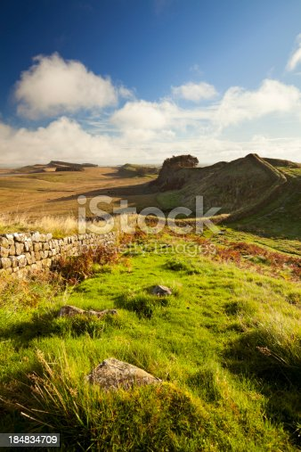 istock Hadrian's Wall, near Housesteads Fort in early morning light 184834709