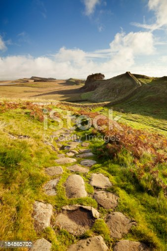 istock Hadrian's Wall, near Housesteads Fort in early morning light 184865702