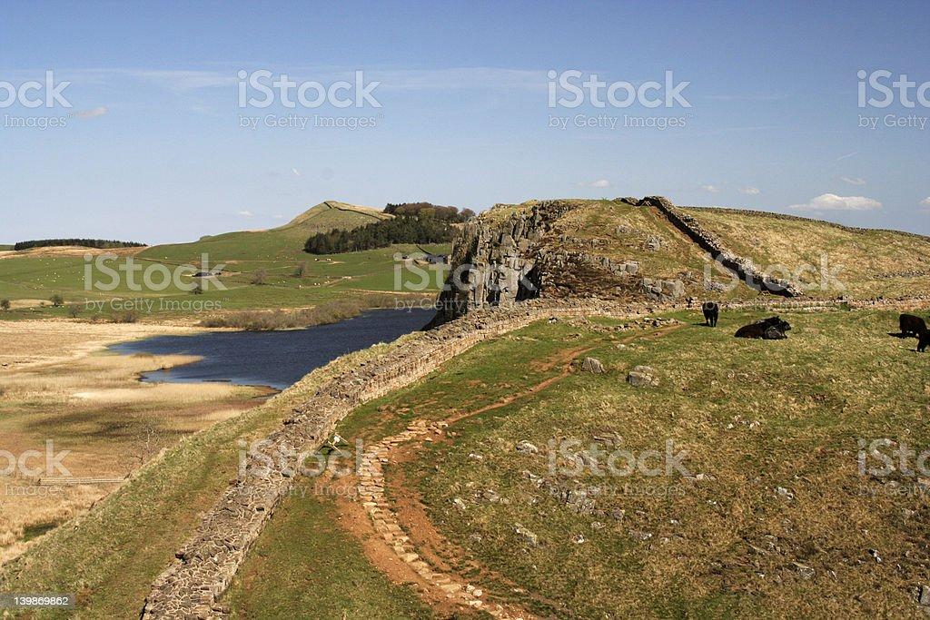 Hadrian's wall royalty-free stock photo