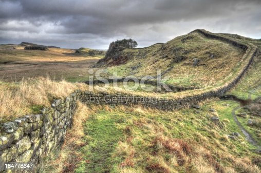 Cuddy's Crags along Hadrian's Wall in Northumberland.