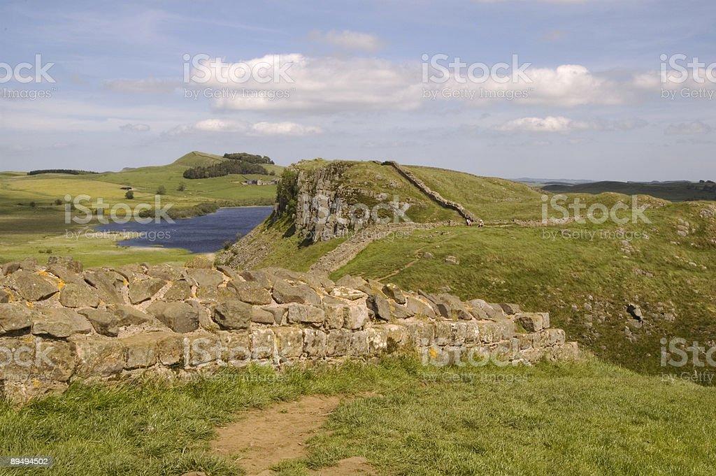 Hadrians Wall royalty-free stock photo