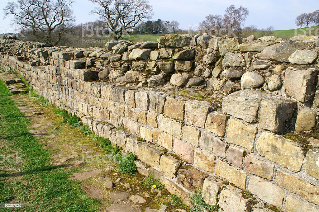 Hadrian's Wall royalty-free stock photo