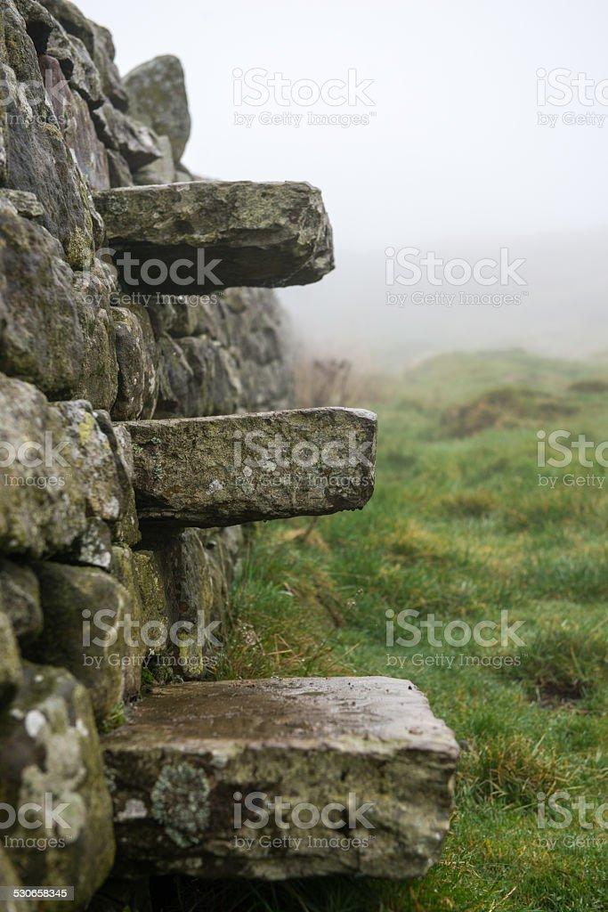 Hadrians Wall Stile stock photo