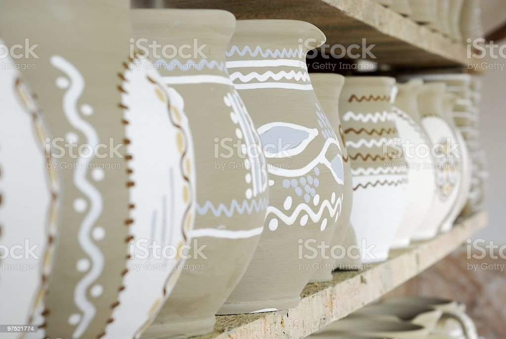 hady made pottery royalty-free stock photo